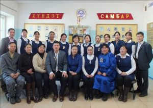 colleagues of Bayanmunkh school